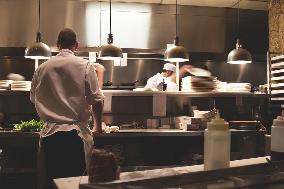 chef's working in a kitchen